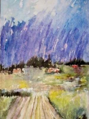 """Down the Road (63""""X27"""")"""