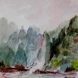 Yangtze River, China  (Mini Painting)