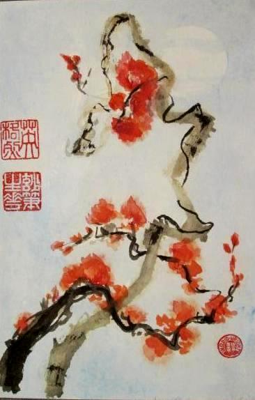 """Orange Blossoms - SOLD(29""""X14"""")"""