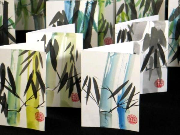 """""""Lucky Bamboo"""" blank note cards"""