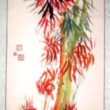 """Red Bamboo (63""""X27"""")"""