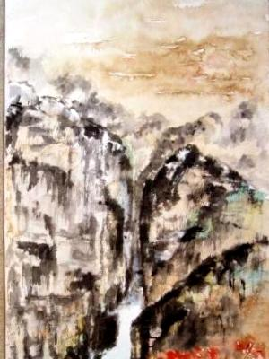 """Springtime in the Mountains (63""""X27"""") -SOLD"""