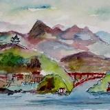Three Gorges, China     (Mini Painting)